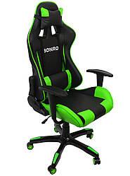 Кресло геймерское Bonro 2018 зеленое