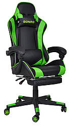 Кресло геймерское Bonro B-2013-1 зеленое