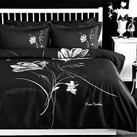 Набор постельного белья Pierre Cardin Soulful black (евро-размер. сатин)