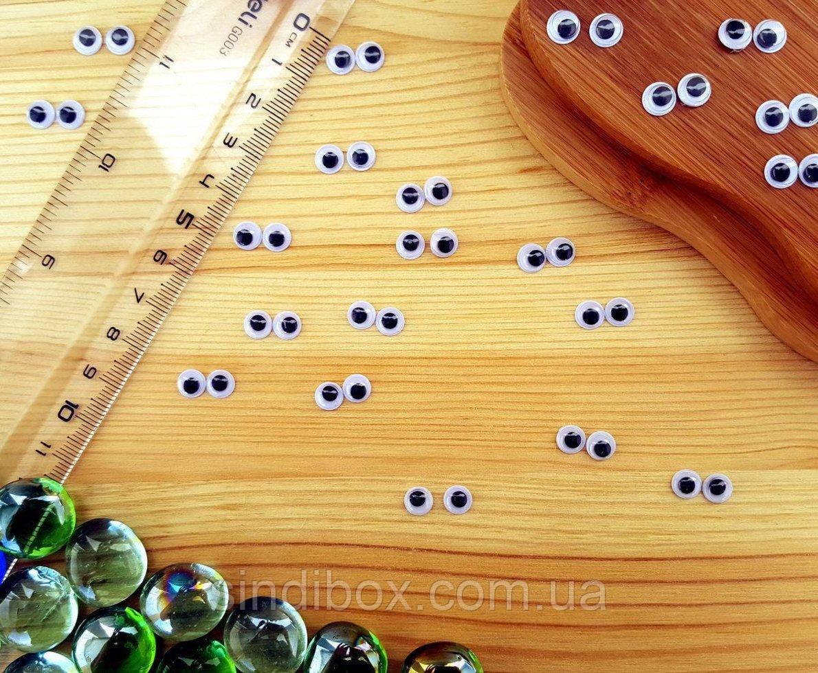 (10грамм, Ø6мм) Подвижные глазки для игрушек Ø6мм (370-390 глазок) (сп7нг-4192)