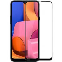 Защитное стекло Full Glue для Samsung Galaxy A20S Черное