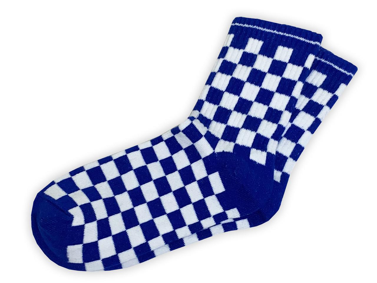 Носки Neseli Athletic Шахматы синие 2204