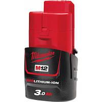 Акумулятор MILWAUKEE, M12 B3 (3Aг)