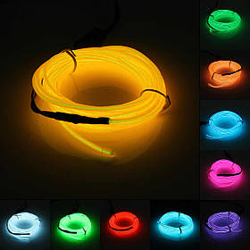 Гибкий светодиодный Неон 3м, толщина 2.3мм  желтый