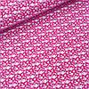Ткань бязь с белыми цветочками на красном, ш. 160см