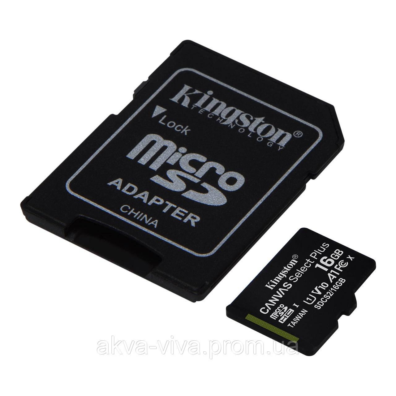 Карта памяти Kingston microSD 16 GB (К-16)