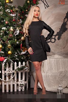 Платье женское модель №231-2,р.44  темно-серое, фото 2