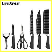 Набор кухонных ножей knife 6 in 1 / Профессиональные острые ножи из нержавеющей стали