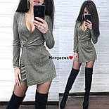 Женский стильный комбинезон ромпер люрекс (в расцветках), фото 5