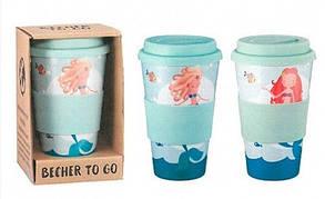 Кофейная кружка to go becher 350ml bambus Mermaid, фото 2