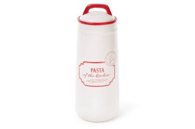Банка керамическая 1.4л для хранения спагетти, пасты красная Red, фото 2