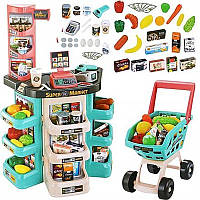 Ігровий набір супермаркет з візком 668-76, магазин на 47 предметів, фото 1