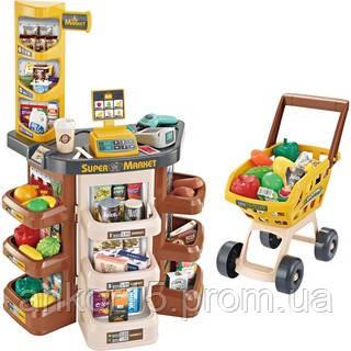 Ігровий набір супермаркет з візком 668-77, магазин на 47 предметів