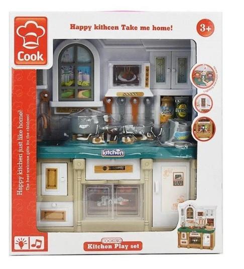 Кухня детская, свет, музыка, мебель, посуда, 3022
