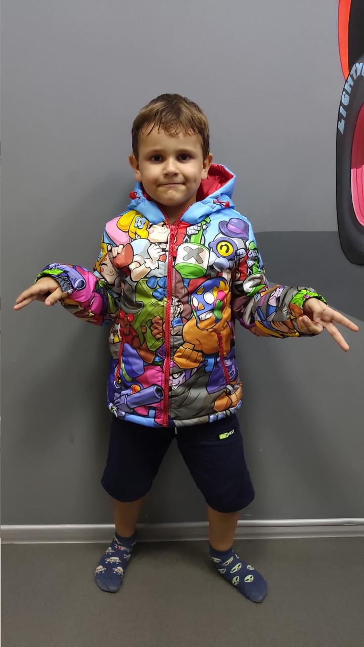Куртка весна-осень с принтом Brawl Stars 128,134,140 роста