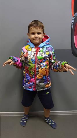 Куртка весна-осень с принтом Brawl Stars 128,134,140 роста, фото 2