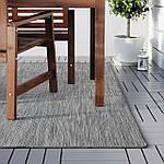 IKEA HODDE Ковер безворсовый, серый/черный (202.987.97), фото 4