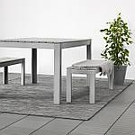IKEA HODDE Ковер безворсовый, серый/черный (202.987.97), фото 5