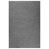 IKEA HODDE Ковер безворсовый, серый/черный (202.987.97)