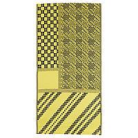 IKEA SAMMANKOPPLA Ковер безворсовый, желтый/черный (304.624.19), фото 1