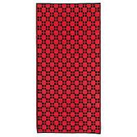 IKEA SAMMANKOPPLA Ковер безворсовый, красный/черный (604.743.74), фото 1