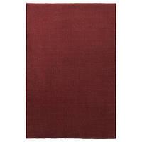 IKEA TYVELSE Ковер с коротким ворсом, темно-красный (604.268.54), фото 1