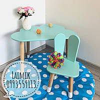 Детский столик Тучка и стул Зайка (детский стульчик, детская мебель,стульчик зайка)
