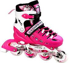 Ролики-коньки Scale Sport. Pink (2в1), размер 38-41, фото 3