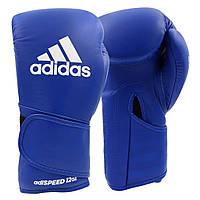 Боксерские перчатки Adidas Speed 501 Adispeed Strap up (синий, ADISBG501)