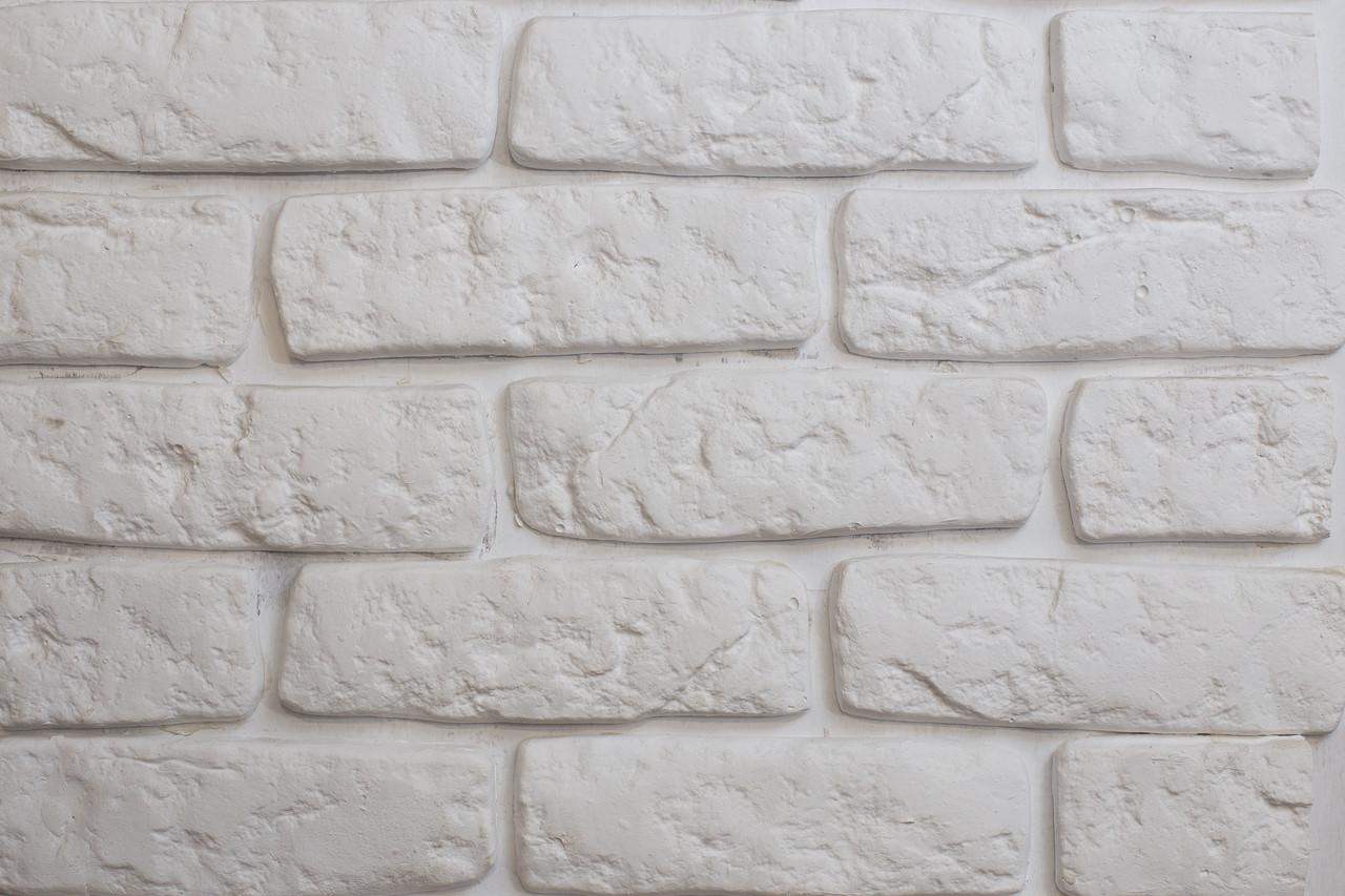 Декоративный кирпич античный белый