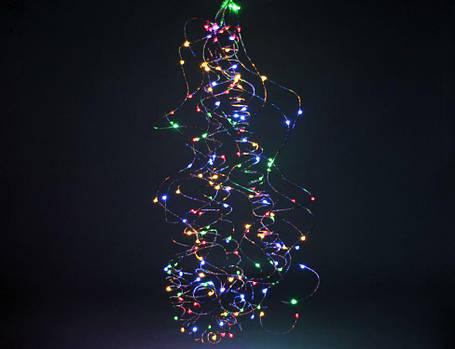 Гирлянда лучи росы или Конский хвост, 2 м, 200 Led, 10 нитей, мультицвет от сети, фото 2