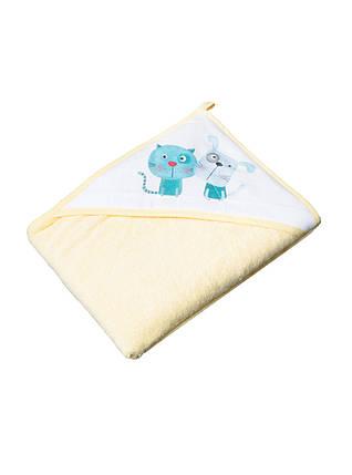 Полотенце с капюшоном 100x100 Tega Baby Dog &Cat  Желтый, фото 2