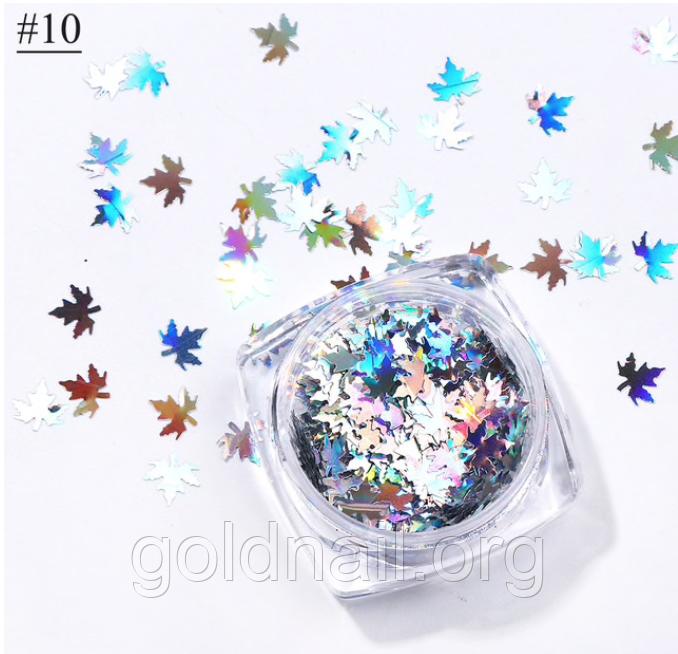 Декор для дизайна ногтей, осенние листья 10