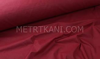 Однотонная хлопковая ткань  вишневого цвета 135г/м2 №168