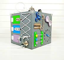 Развивающая игрушка бизикуб Busy Cube Tornado Серая, фото 2