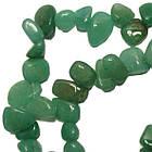 Сколы Нефрит Зеленый Крупный Размер 10-15*3-6 мм, Около 37 см нить, Бусины Натуральный Камень, Рукоделие, фото 2