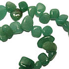 Сколы Нефрит Зеленый Крупный Размер 10-15*3-6 мм, Около 37 см нить, Бусины Натуральный Камень, Рукоделие, фото 3