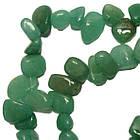 Сколы Нефрит Зеленый Крупный Размер 10-15*3-6 мм, Около 37 см нить, Бусины Натуральный Камень, Рукоделие, фото 4