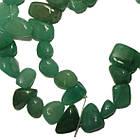 Сколы Нефрит Зеленый Крупный Размер 10-15*3-6 мм, Около 37 см нить, Бусины Натуральный Камень, Рукоделие, фото 5