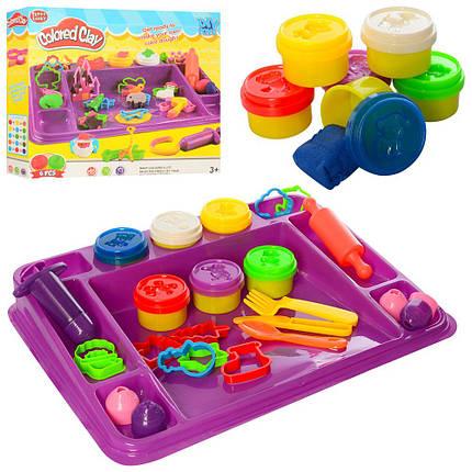 Набор пластилина для детской лепки MK 2744 с аксессуарами, разноцветный, фото 2