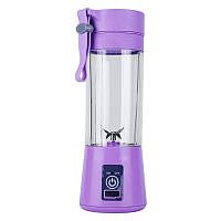Универсальная портативная USB кружка-блендер Juicer Cup с функцией power bank фиолетовая Джусер Кап