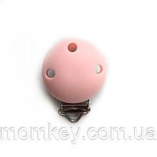 Клипса Круглая (розовый-кварц)