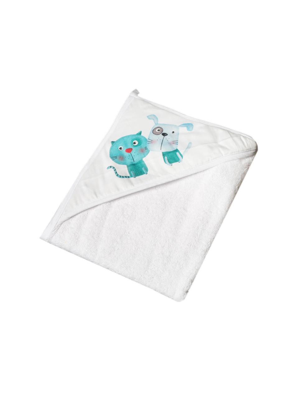 Полотенце с капюшоном 100x100 Tega Baby Dog &Cat  Белый