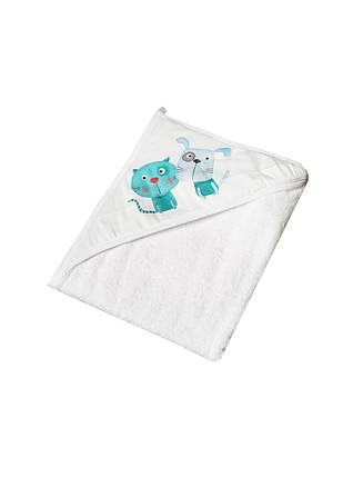 Полотенце с капюшоном 100x100 Tega Baby Dog &Cat  Белый, фото 2
