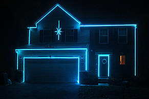 Гибкий светодиодный Неон уличный LTL FLEX 8Х16мм 120 LED 2835SMD IP67 220V небесный, фото 2
