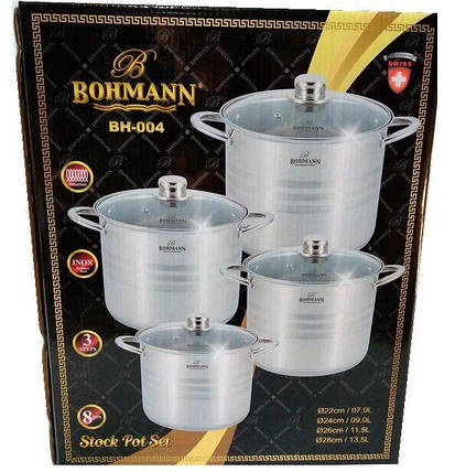 Набор кастрюль - 8 предметов Bohmann BH 004, фото 2