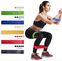 Резинки для фитнеса, лента эспандер эластичная набор из 5 штук с чехлом