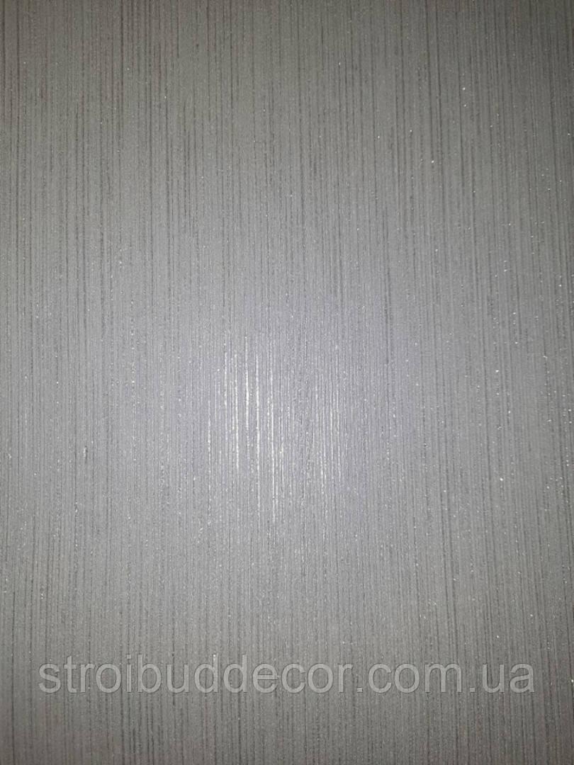 Обои Bravo  виниловые на бумажной основе 0,53 х 10м. однотонные ,потолок, стена серый