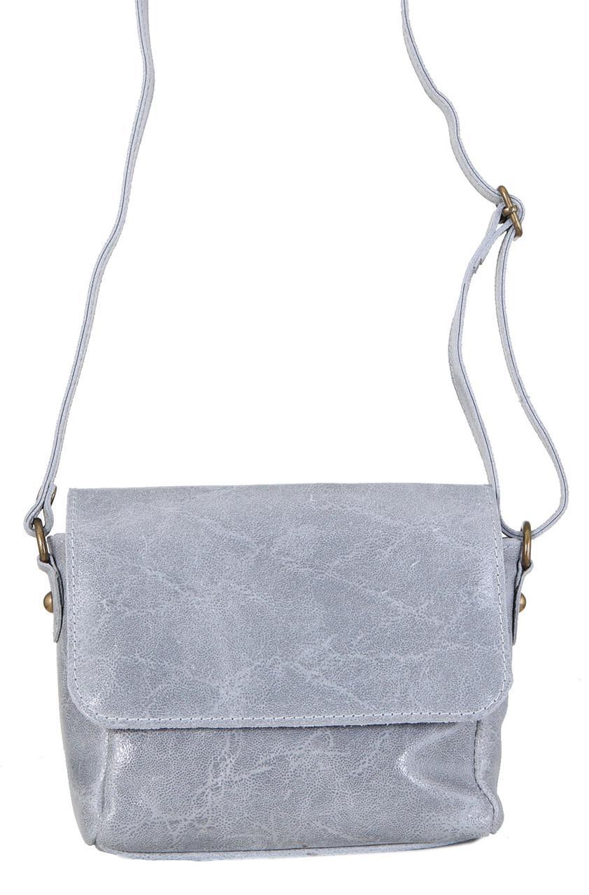 Жіноча шкіряна сумка RONA diva's Bag колір сірий