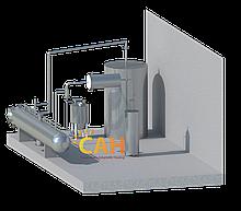 Производственный участок для обработки сыпучих материалов различной формы давлением, температурой, вакуумом,